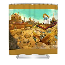 Ali Baba Cover Art Shower Curtain by Reynold Jay