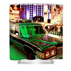 Alice Cooper's Hearse Shower Curtain