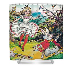 Alice In Wonderland Shower Curtain by Jesus Blasco