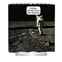 Alice Kramden On The Moon Shower Curtain