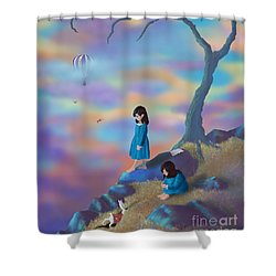 Alice's Ambivalence Shower Curtain by Audra D Lemke