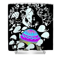 Alice's Magic Discovery Shower Curtain