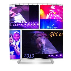 Alicia Keys Girl On Fire 2013 Shower Curtain by The Creative Minds Art and Photography