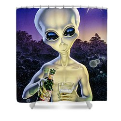 Alien Brew Shower Curtain