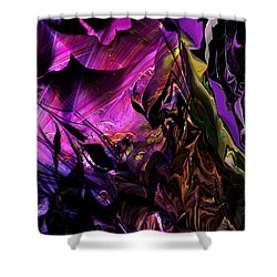 Shower Curtain featuring the digital art Alien Floral Fantasy by David Lane