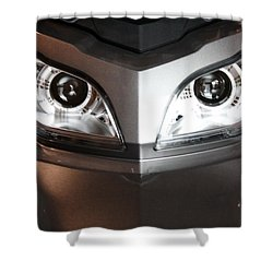 Alien Headlights  Can Am Spyder Motorcycle Shower Curtain
