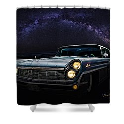 Alien Lincoln Roswell Saturday Night Shower Curtain