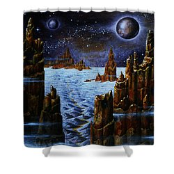 Ice And Snow  Planet  Shower Curtain