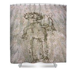 Alien On The Beach Shower Curtain