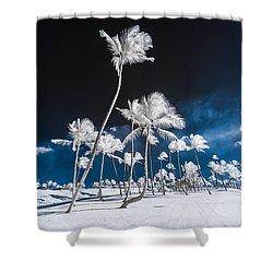 Alien Palm Trees Shower Curtain