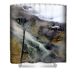 Alien Planet Shower Curtain