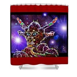 Alien Portrait Shower Curtain by Hartmut Jager