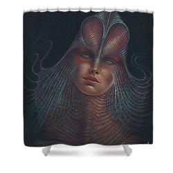 Alien Portrait Il Shower Curtain
