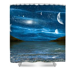 Alien Waterscape Shower Curtain by Brian Wallace
