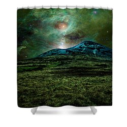 Alien World Shower Curtain by Semmick Photo