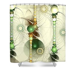 Alignment Shower Curtain by Anastasiya Malakhova
