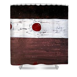 Alignment Original Painting Shower Curtain by Sol Luckman