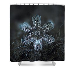 Shower Curtain featuring the photograph Snowflake Photo - Alioth by Alexey Kljatov