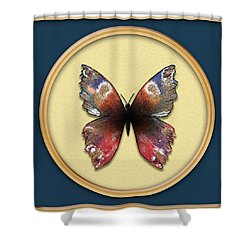 Alizarin Butterfly Shower Curtain