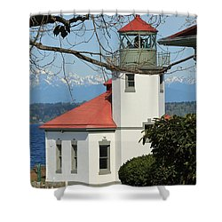 Alki Lighthouse Shower Curtain