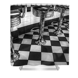 All American Diner Shower Curtain by Bob Christopher