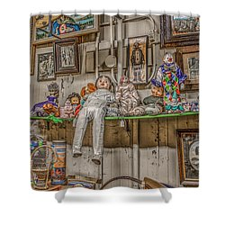 All By My Shelf Shower Curtain by Ray Congrove