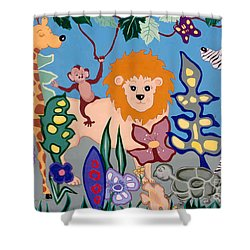 All Creatures Great And Small Shower Curtain by Joyce Gebauer