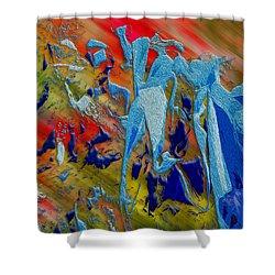 All Dat Jazz Shower Curtain by Paul Wear