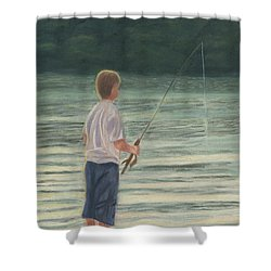 All Day Long Shower Curtain by Arlene Crafton