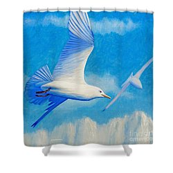 All Fly Home Shower Curtain by Brian  Commerford
