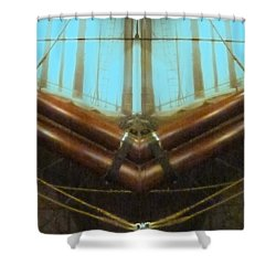 All Fore Naut Shower Curtain by Barbie Corbett-Newmin