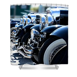 Shower Curtain featuring the photograph All In Line by Rebecca Davis