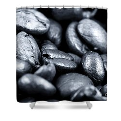 All In The Beans Shower Curtain by John Rizzuto