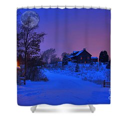 All Is Calm Shower Curtain