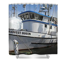 All Painted And Ready To Fish Shower Curtain by Tom Janca