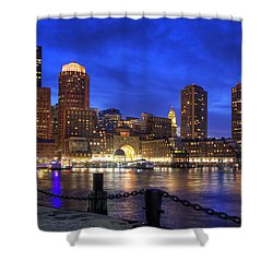 All Quiet In Boston Harbor Shower Curtain by Joann Vitali