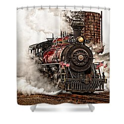 All Steamed Up Shower Curtain by Mary Jo Allen