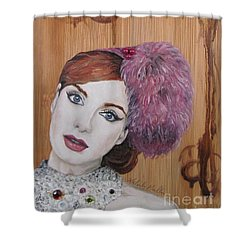 Shower Curtain featuring the painting All That Girls Love 1 by Malinda  Prudhomme