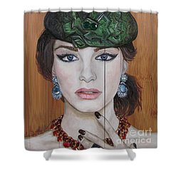 Shower Curtain featuring the painting All That Girls Love 2 by Malinda  Prudhomme