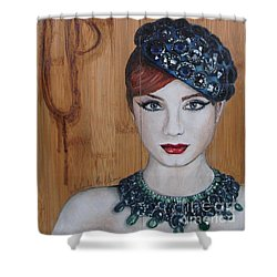 Shower Curtain featuring the painting All That Girls Love 3 by Malinda  Prudhomme