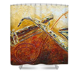 Shower Curtain featuring the painting All That Jazz by Phyllis Howard