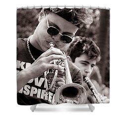 Shower Curtain featuring the photograph All That Jazz by Tim Stanley