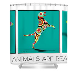 All The Animal Are Beautiful  Shower Curtain by Mark Ashkenazi