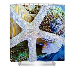 All The Colors Of The Sea Shower Curtain by Colleen Kammerer