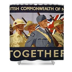 All The Commonwealth Countries Unite. Shower Curtain by Paul Fearn