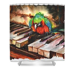 All The Right Notes Not Necessarily In The Right Order Shower Curtain