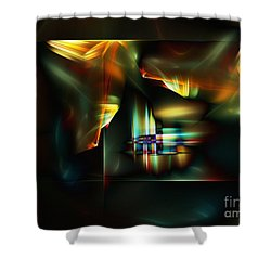 All The World's A Stage Shower Curtain by Klara Acel