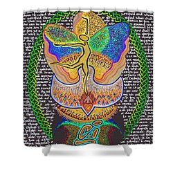 All Things Work Together For Good Shower Curtain by Hidden  Mountain