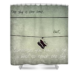 Shower Curtain featuring the photograph All Tied Up Inspirational by Melanie Lankford Photography