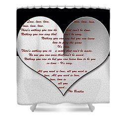 All You Need Is Love Digital Painting Shower Curtain by Georgeta Blanaru